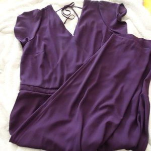 Loft . Plus size Purple Jumpsuit